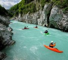 Kayak-on-Soca-River-Kobarid